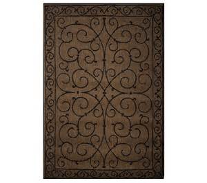 Veranda Living Outdoor Rugs Veranda Living 5x7 Reversible Scroll Design Indoor Outdoor Rug Qvc