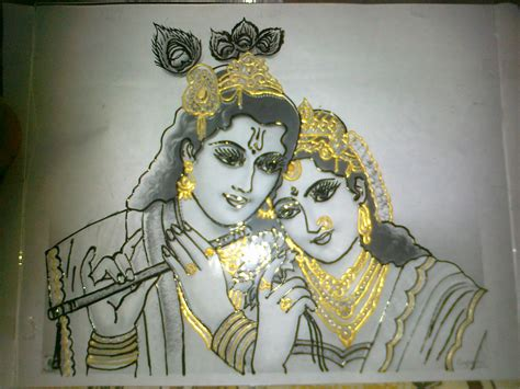 Glass Painting Krishna Outline by My Artbook Glass Painting Radha Krishna