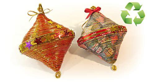imgenes de adornos de navidad con material de provecho c 243 mo hacer adornos de navidad reciclados recycled