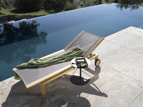 Tribu Kos by Kos Teak Adjustable Daybed Sun Loungers From Trib 249