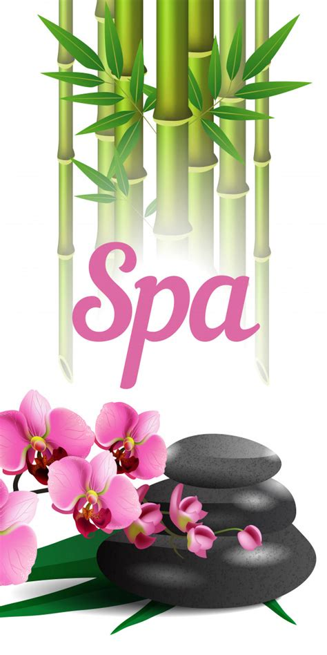 spa lettering bamboo stones  orchid spa salon
