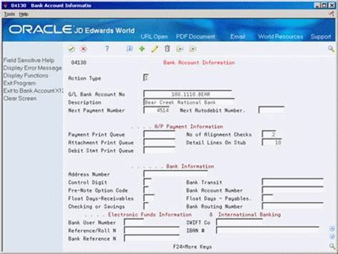 bank account information set up bank account information for a p