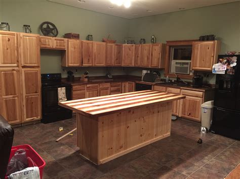 kitchen overview hickory cabinets from lowes walnut