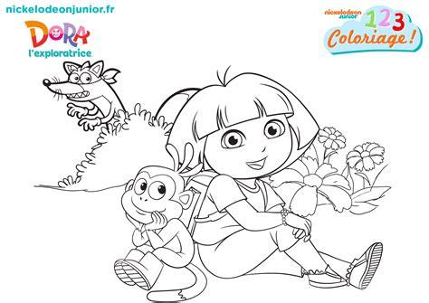 1 2 3 Coloriage Dora L Exploratrice Derri 232 Re Le Coloriage Peppa Pig L