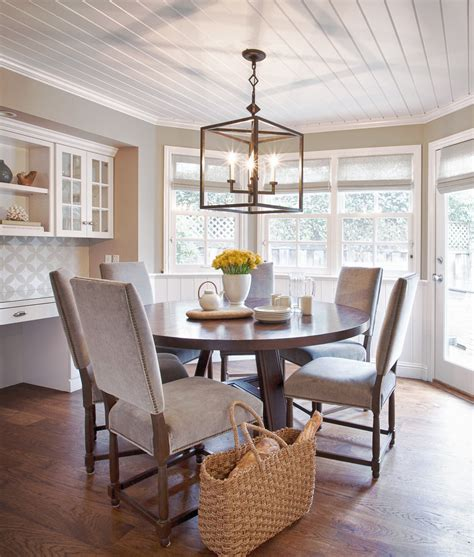modern ceiling light fixtures Dining Room Contemporary with beadboard ceiling beige dining