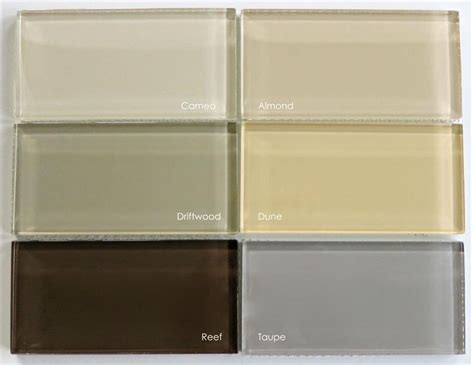 Subway Tile Colors | lush 3x6 glass subway tile dune beige beach house