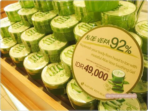 Harga Innisfree Aloe Vera indonesia by via han nature republic