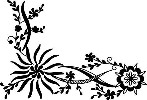 flower pattern vector png 16 flower corner vector png transparent svg vol 2