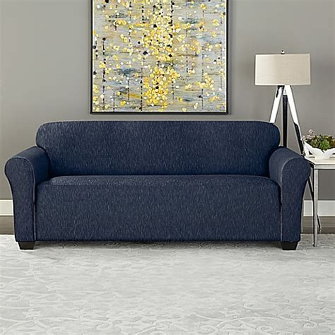 Sure Fit 174 Designer Denim 1 Piece Sofa Slipcover Bed Bath Denim Sofa Slipcover