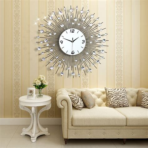 big w home decor 3d wall clock 64pcs diamonds decorative clock diameter 25