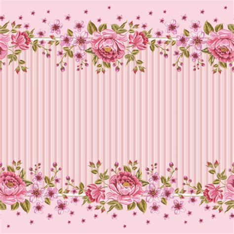 Pink roses frame background vector - Vector Background ... Fire And Ice Roses