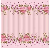 Pink Roses Frame Background Vector