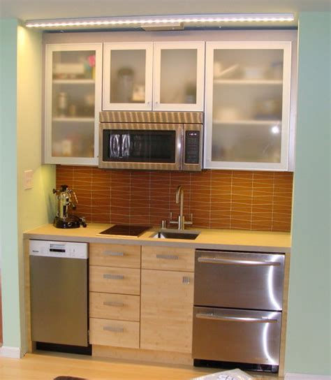 kitchenette cabinets mini kitchen redo