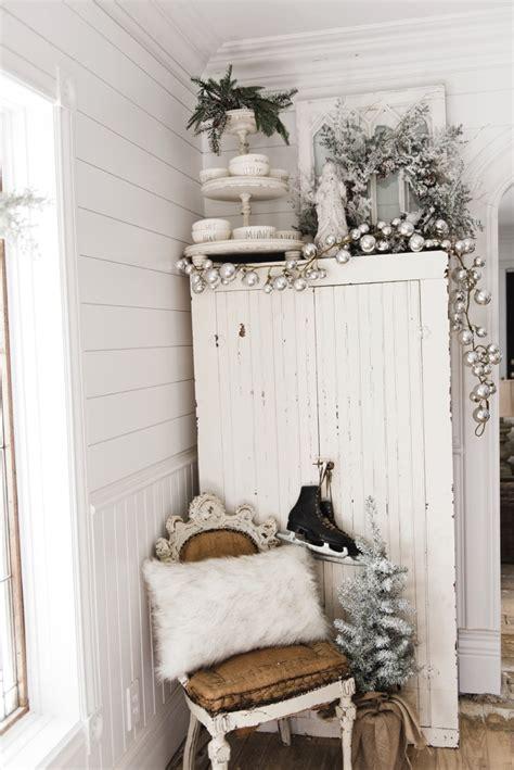 farmhouse christmas cabinet rustic santa liz marie blog