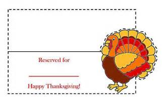 Thanksgiving Place Card Templates by Free And Printable Thanksgiving Place Cards