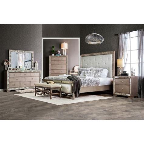 Silver King Bedroom Set by Furniture Of America Eckel 4 King Bedroom Set In