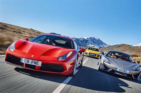 Our kind of EU summit: Ferrari 488 GTB vs McLaren 570S vs