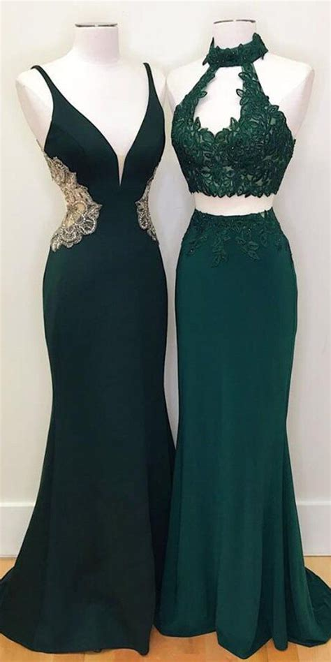 teal green mermaid evening party long prom dresses wp