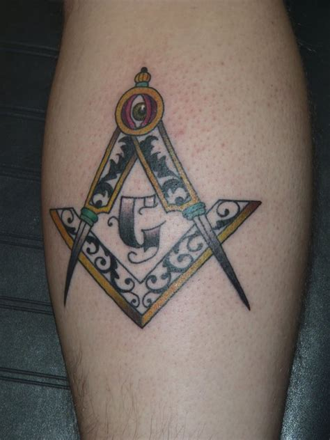 free mason tattoo masonic on freemasonry lodges and masons