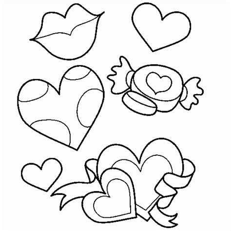 love heart pictures to colour in