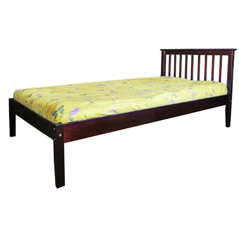 espresso twin bed crystal twin bed frame espresso scanica
