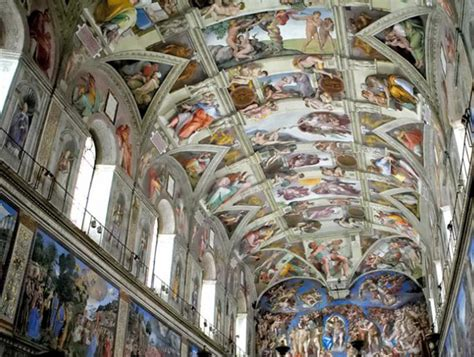 Michael Angelo Ceiling by Monks And Mermaids A Benedictine Visit To