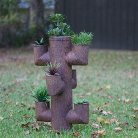 Metal Outdoor Planters by Metal Cactus Flower Planter Czg1255