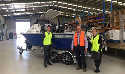 boat trailer manufacturers victoria victorian boat manufacturer wins government grant to boost