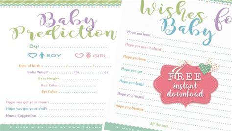 adorable baby shower advice cards tulamama