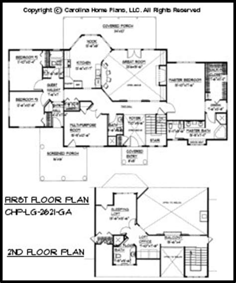 large open floor house plan chp lg 2621 ga sq ft large