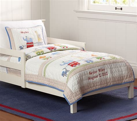 Circus Crib Bedding Set by Circus Friends Toddler Bedding Pottery Barn