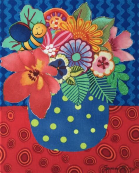 fabric collage class  susan rienzo brevard cultural alliance