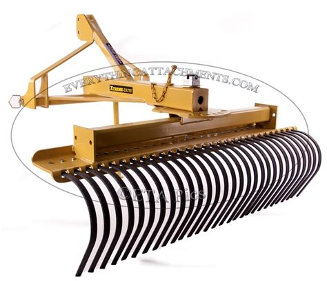 Landscape Root Rake Everything Attachments Tractor Landscape Rake Root Rake