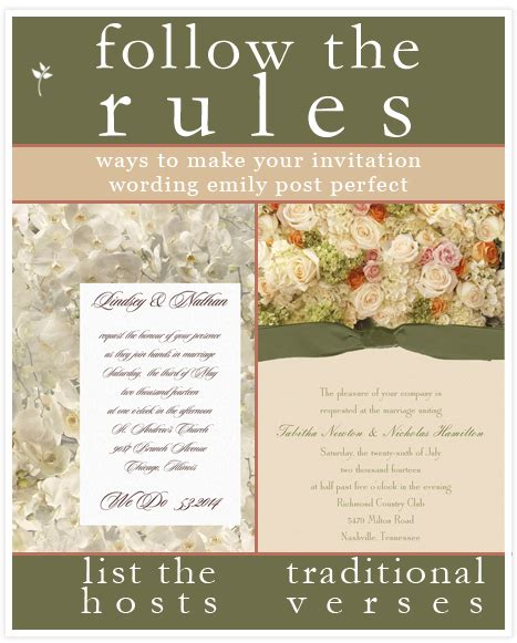wedding invitation design rules invitation wording emily post gallery invitation sle
