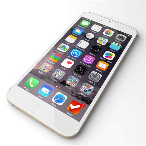 apple iphone 6 grey 3d model max cgtrader