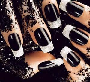 Nail design black and white nail art black glitter nail art black