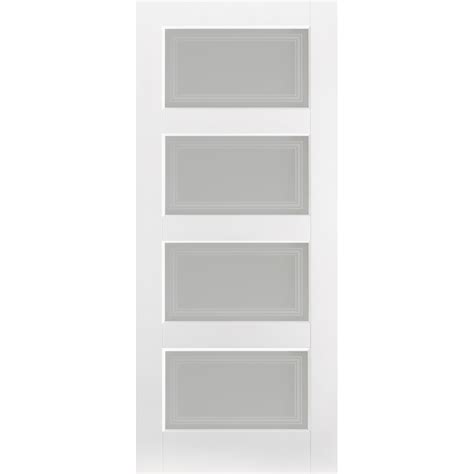 Frosted Glass Panel Interior Doors Glass Panel Interior Doors Solid White Primed Contemporary 4 Panel Door With Frosted