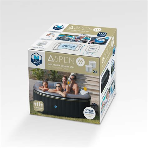 Spa Gonflable 26 by Spa Gonflable Carr 233 Aspen Net Spa 4 Places Elite Piscine