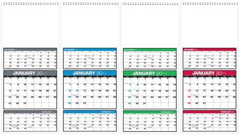Calendar 3 Month View 2018 Imprinted Three Month View Calendar 7 Quot W X 16 Quot H