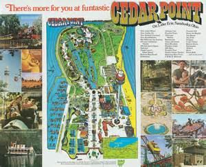 1972 cedar point brochure park guide