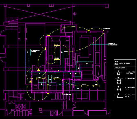 electrical layout plan in autocad cad drawing electrical cable tray layout plan legend