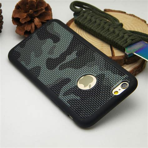 Silicon Army Iphone 6 6s camouflage for iphone 6 6s plus 7 plus silicone tpu breathable mesh radiating soft