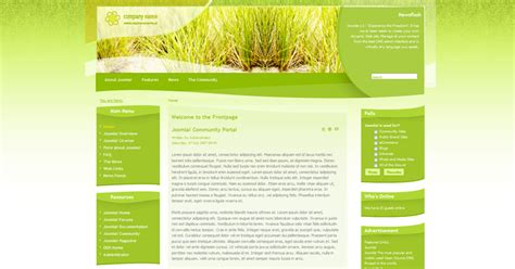free joomla agriculture template free joomla templates