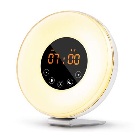 wake  light sunrise alarm clock  multiple nature