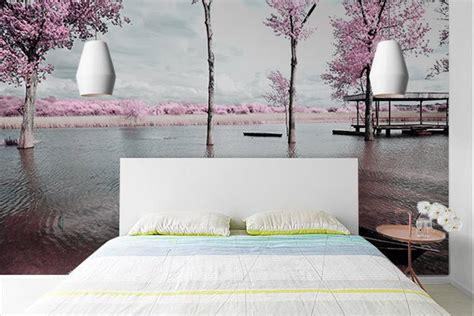 papier peint de chambre papier peint chambre rive de cerisiers izoa
