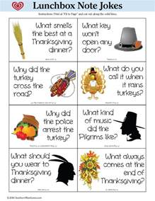 southern thanksgiving lunchbox note jokes free