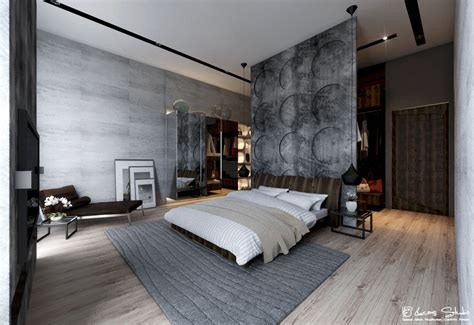 Exposed Concrete Interior by Exposed Concrete Wall Bedroom Interior Design Ideas