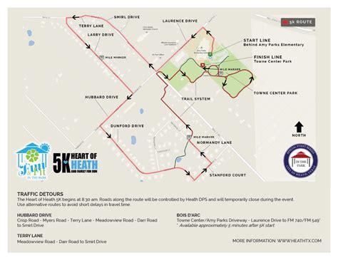 heath texas map of heath 5k road closures city of heath tx