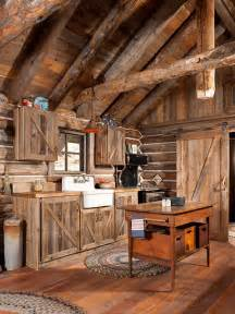 Cabin Kitchen Cabinets by Gorgeous Rustic Log Cabin Kitchen From Off Grid World