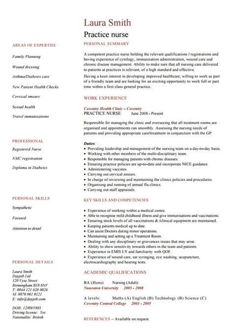 Nursing Cv Template by 10 Nursing Resume Template Free Word Pdf Sles
